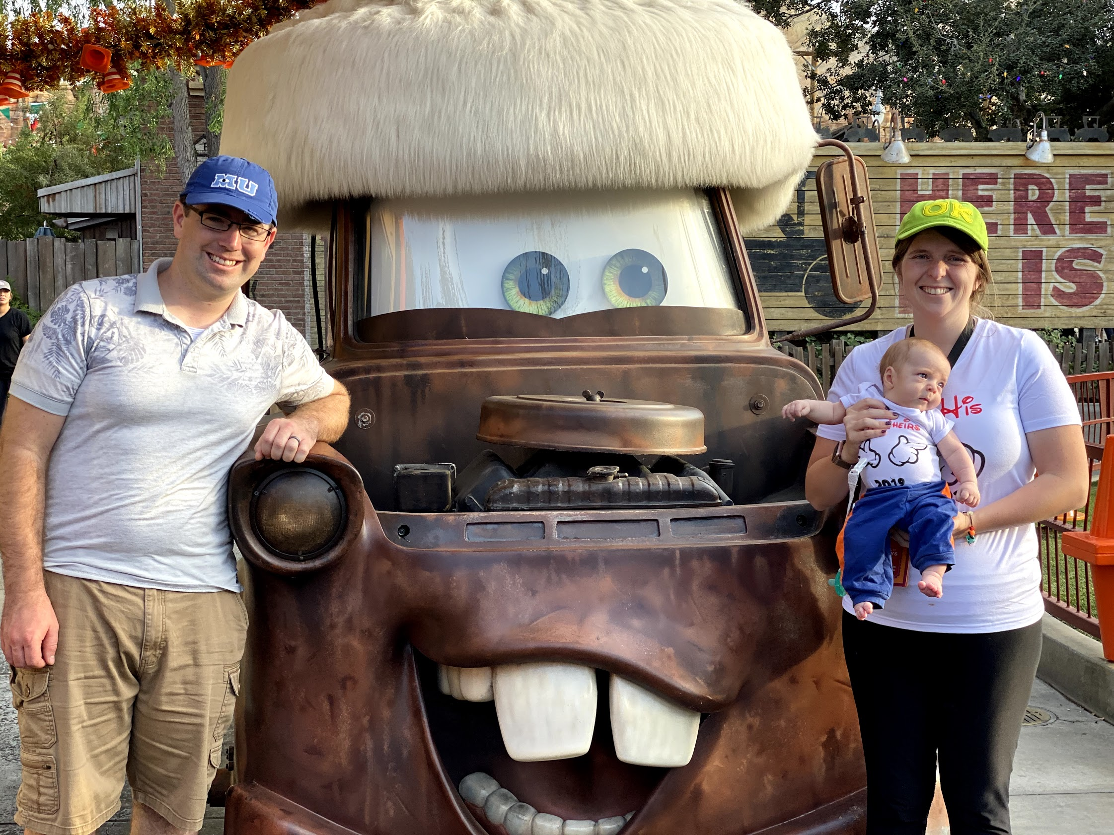 family with tow mater